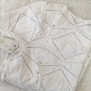 JCrew White Eyelet Shirt